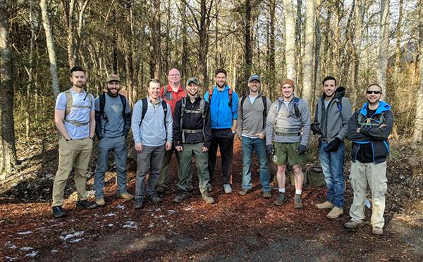 Members in Nashville hiked the Volunteer Trail in Hermitage.