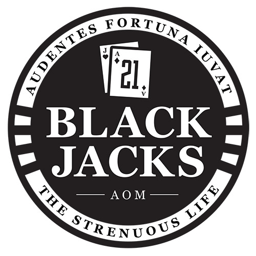 A logo of a Black Jacks company.
